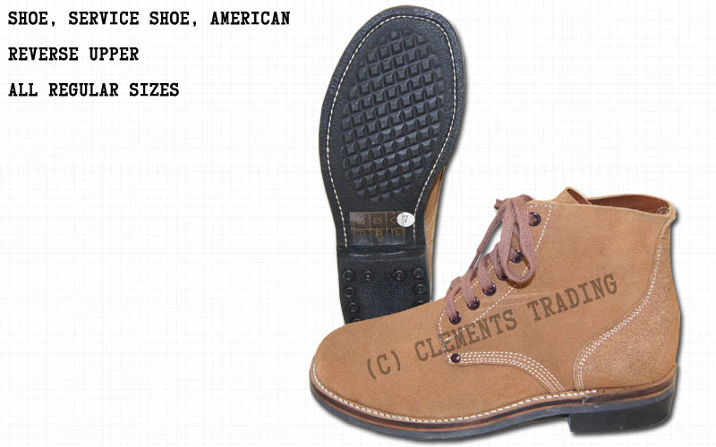 Shoes, Service, Reverse Upper, American